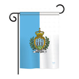 San Marino - Nationality Flags of the World Vertical Impressions Decorative Flags HG108320 Printed In USA