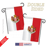 Monaco - Nationality Flags of the World Vertical Impressions Decorative Flags HG108322 Printed In USA