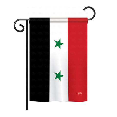Syria - Nationality Flags of the World Vertical Impressions Decorative Flags HG108326 Printed In USA