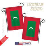 Maldives - Nationality Flags of the World Vertical Impressions Decorative Flags HG108329 Printed In USA