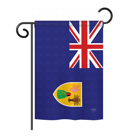 Turks and Caicos - Nationality Flags of the World Vertical Impressions Decorative Flags HG108335 Printed In USA
