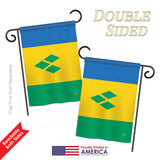 Saint Vincent and Grenadines - Nationality Flags of the World Vertical Impressions Decorative Flags HG108347 Printed In USA