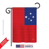 Samoa - Nationality Flags of the World Vertical Impressions Decorative Flags HG108351 Printed In USA