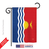 Kiribati - Nationality Flags of the World Vertical Impressions Decorative Flags HG108355 Printed In USA