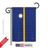 Nauru - Nationality Flags of the World Vertical Impressions Decorative Flags HG108358 Printed In USA