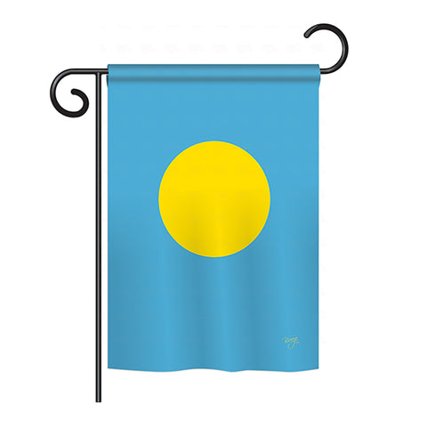 Palau - Nationality Flags of the World Vertical Impressions Decorative Flags HG108359 Printed In USA