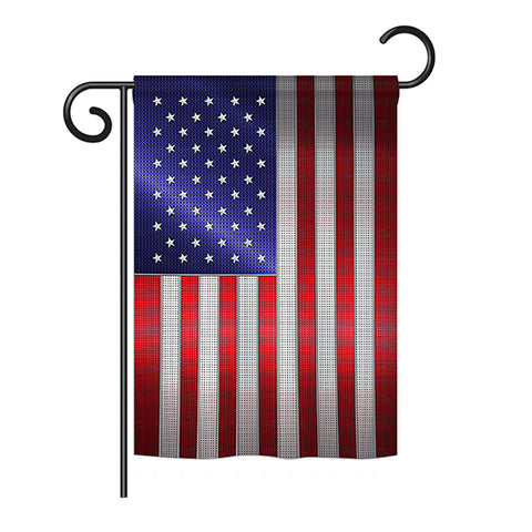 Steel Of Pride American Flag - Nationality Flags of the World Vertical Impressions Decorative Flags HG108393 Printed In USA
