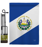 El Salvador - Nationality Flags of the World Vertical Impressions Decorative Flags HG108151 Made In USA