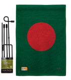 Bangladesh - Nationality Flags of the World Vertical Impressions Decorative Flags HG108263 Made In USA