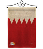 Bahrain - Nationality Flags of the World Vertical Impressions Decorative Flags HG108268 Made In USA