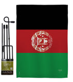 Afghanistan - Nationality Flags of the World Vertical Impressions Decorative Flags HG108272 Made In USA