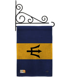 Barbados - Nationality Flags of the World Vertical Impressions Decorative Flags HG108342 Made In USA