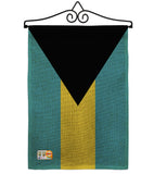 Bahamas - Nationality Flags of the World Vertical Impressions Decorative Flags HG140020 Made In USA