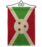 Burundi - Nationality Flags of the World Vertical Impressions Decorative Flags HG140043 Made In USA