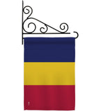 Chad - Nationality Flags of the World Vertical Impressions Decorative Flags HG140050 Made In USA