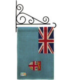 FIJI - Nationality Flags of the World Vertical Impressions Decorative Flags HG140084 Made In USA