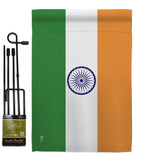 India - Nationality Flags of the World Vertical Impressions Decorative Flags HG140108 Made In USA