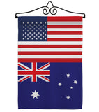Australia US Friendship - Nationality Flags of the World Vertical Impressions Decorative Flags HG140284 Made In USA