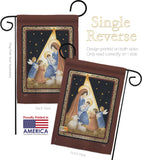 The Lord is Born - Nativity Winter Vertical Impressions Decorative Flags HG114091 Made In USA