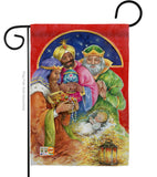 Three Kings Gifts - Nativity Winter Vertical Impressions Decorative Flags HG114104 Made In USA