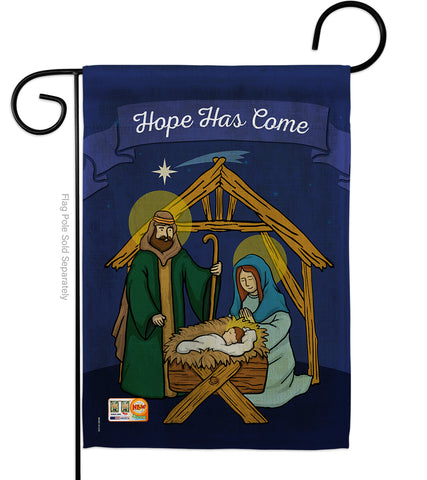 Hope Has Come - Nativity Winter Vertical Impressions Decorative Flags HG114112 Made In USA