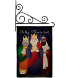 Feliz Navidad - Nativity Winter Vertical Impressions Decorative Flags HG114081 Imported