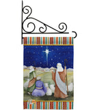 Christmas in Bethlehem - Nativity Winter Vertical Impressions Decorative Flags HG114215 Made In USA
