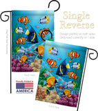 Coral Life - Nautical Coastal Vertical Impressions Decorative Flags HG107030 Made In USA
