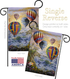 Summer Glow - Nautical Coastal Vertical Impressions Decorative Flags HG107048 Made In USA