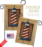 Patriotic Lighthouse - Nautical Coastal Vertical Impressions Decorative Flags HG107056 Made In USA