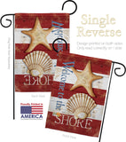 Welcome to the Shore - Nautical Coastal Vertical Impressions Decorative Flags HG107058 Made In USA