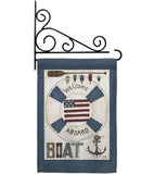 Welcome Aboard - Nautical Coastal Vertical Impressions Decorative Flags HG107054 Made In USA