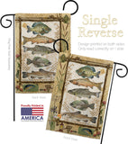 Fishing Adventures - Outdoor Nature Vertical Impressions Decorative Flags HG109056 Made In USA