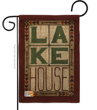 Lake House - Outdoor Nature Vertical Impressions Decorative Flags HG109057 Made In USA