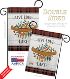 Live Love Lake - Outdoor Nature Vertical Impressions Decorative Flags HG109073 Made In USA