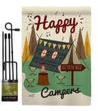 Happy Campers - Outdoor Nature Vertical Impressions Decorative Flags HG137011 Made In USA