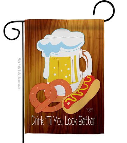 Drink 'Til You Look Better - Party & Celebration Special Occasion Vertical Impressions Decorative Flags HG115065 Made In USA