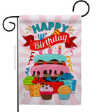 Happy Birthday Cake - Party & Celebration Special Occasion Vertical Impressions Decorative Flags HG137080 Made In USA