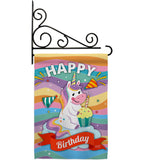 Unicorn Happy Birthday - Party & Celebration Special Occasion Vertical Impressions Decorative Flags HG137055 Made In USA