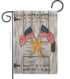 Home of the Free - Patriotic Americana Vertical Impressions Decorative Flags HG111055 Made In USA