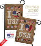 I Love USA - Patriotic Americana Vertical Impressions Decorative Flags HG111067 Made In USA