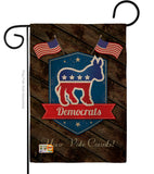 Democrats - Patriotic Americana Vertical Impressions Decorative Flags HG111070 Made In USA