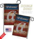 Patriotic A Initial - Patriotic Americana Vertical Impressions Decorative Flags HG130105 Made In USA