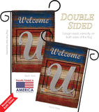 Patriotic U Initial - Patriotic Americana Vertical Impressions Decorative Flags HG130125 Made In USA
