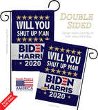 Shut Up Man - Patriotic Americana Vertical Impressions Decorative Flags HG170150 Made In USA