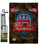 Republicans - Patriotic Americana Vertical Impressions Decorative Flags HG111071 Made In USA