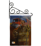 Homeguard - Patriotic Americana Vertical Impressions Decorative Flags HG111076 Made In USA