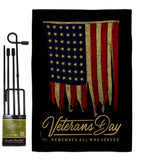 Remember Who Served - Patriotic Americana Vertical Impressions Decorative Flags HG111092 Made In USA