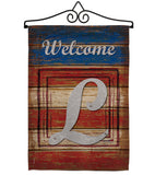 Patriotic L Initial - Patriotic Americana Vertical Impressions Decorative Flags HG130116 Made In USA