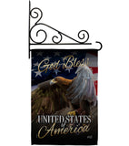 American Eagle - Patriotic Americana Vertical Impressions Decorative Flags HG137136 Made In USA